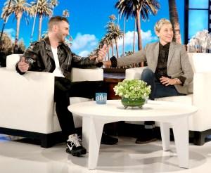 Adam Levine and Ellen DeGeneres