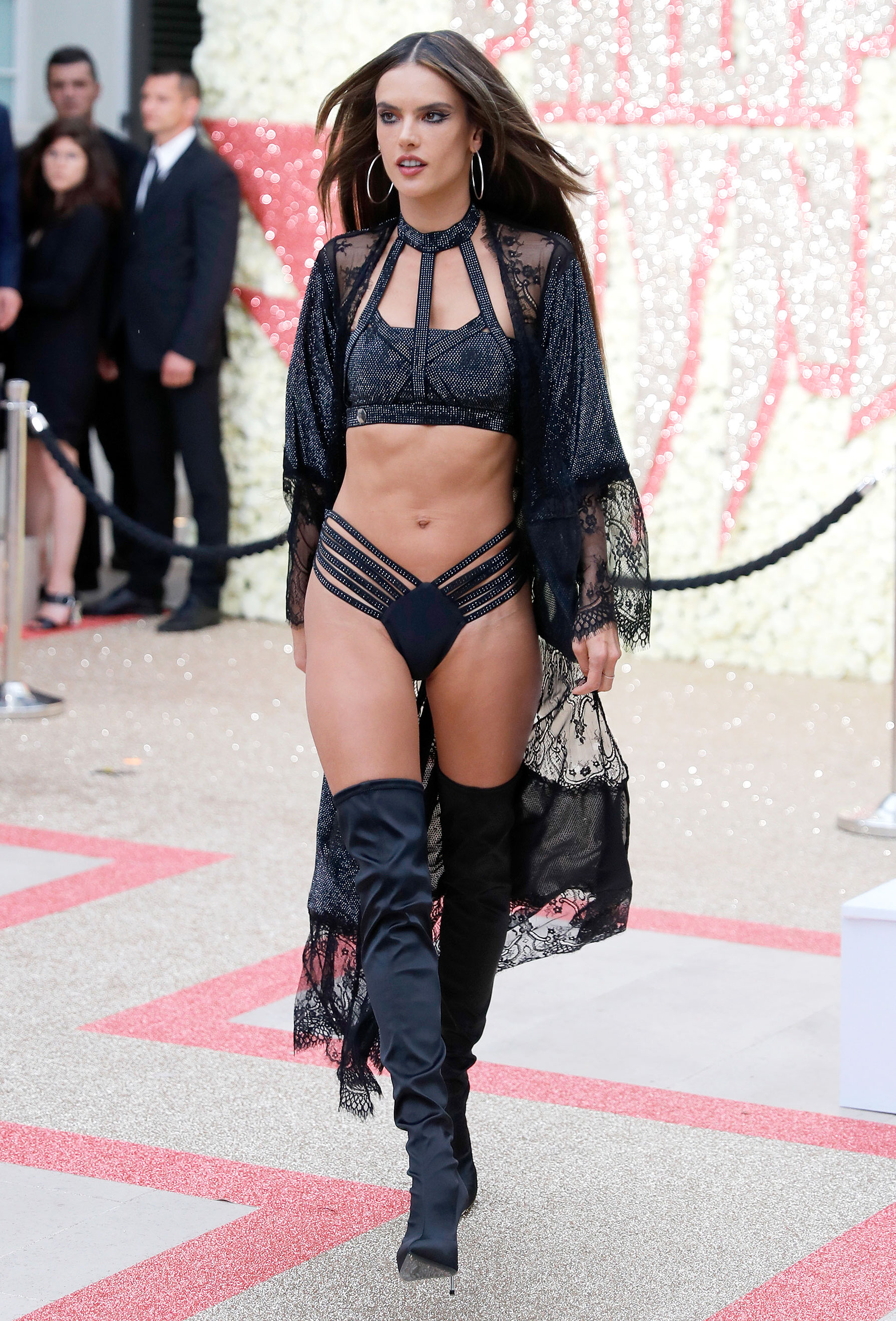Alessandra Ambrosio - Taking the nearly naked trend to new heights, the model showed off her fit physique on the Philipp Plein Resort 2019 runway on Wednesday, May 16.