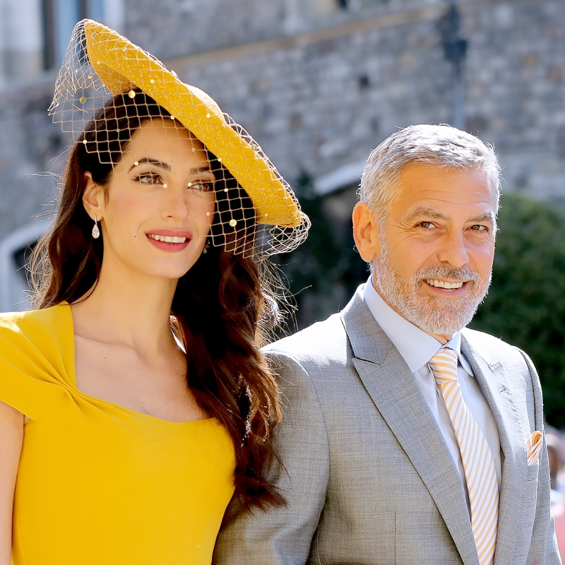 George and Amal Clooney at the Royal Wedding Amal-george-clooney-royal-wedding