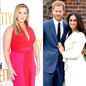 Amy Schumer, Prince Harry, and Meghan Markle