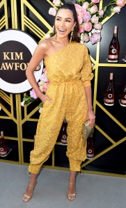Olivia Culpo attends Kim Crawford Wines `Sip into Summer` Rose Party at Chateau Marmont in West Hollywood, California on May 15, 2018.