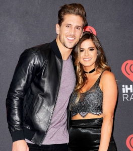 Jordan Rodgers and Jojo Fletcher attend the 2016 iHeartRadio Music Festival Night 1 at T-Mobile Arena in Las Vegas, Nevada.