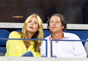 Heidi Klum and Vito Schnabel attend the 2014 US Open at USTA Billie Jean King National Tennis Center in New York City.