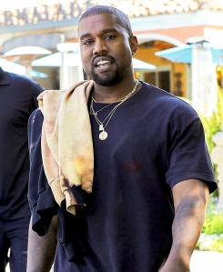 Kanye West steps out in Calabasas, California on July 18, 2017.