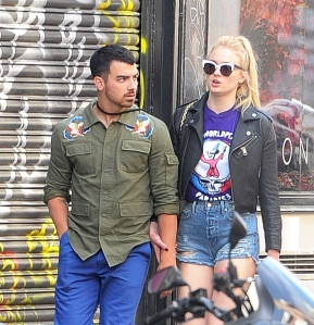 Joe Jonas and Sophie Turner step out at The Ivy Soho Brasserie in London, Emgland.