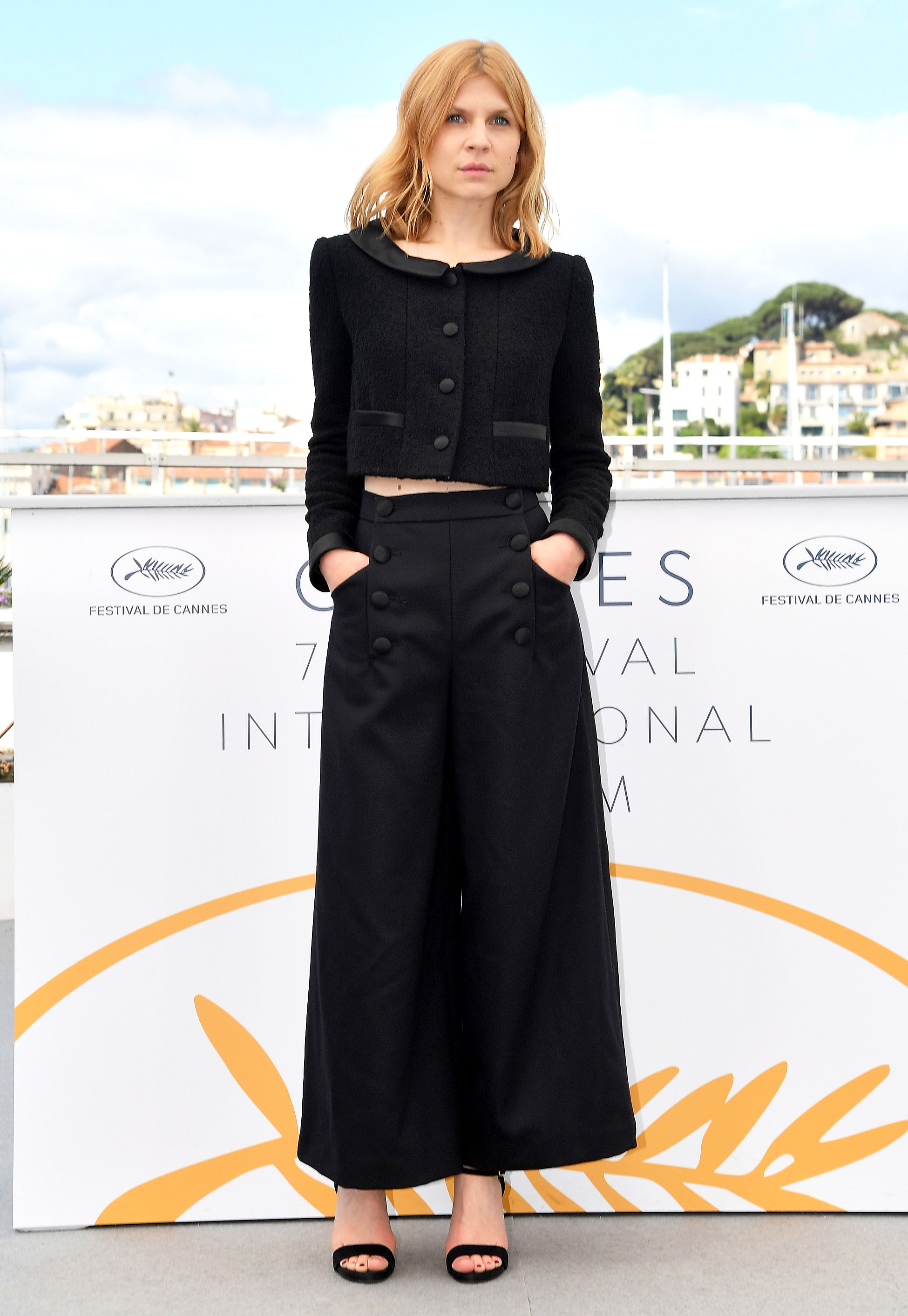 Clemence Poesy - Très chic is about the only way to describe the French actress' Chanel cropped jacket and wide leg trousers at the Talents Adami photocall on Tuesday, May 15.