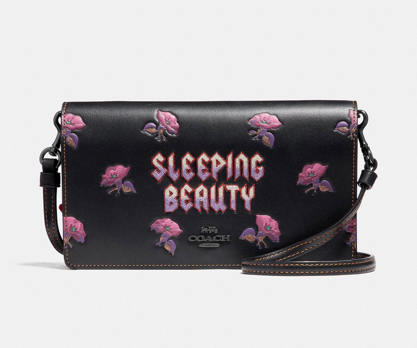 Coach x Disney Sleeping Beauty foldover clutch - Black Coach SG1Rv55whE