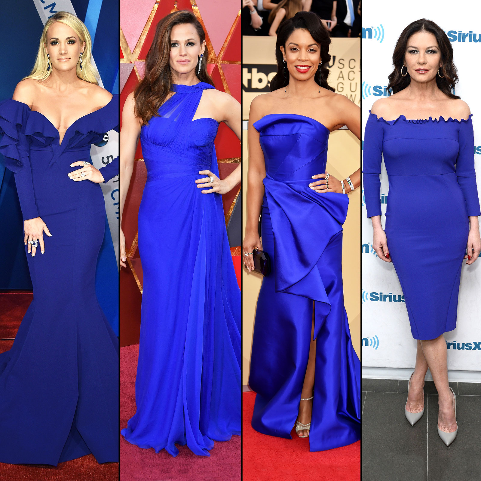 Celebrities In Cobalt Blue Dresses Jennifer Garner More