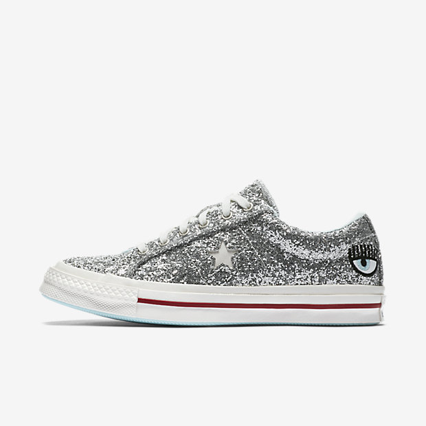 excusa Normalmente Radioactivo  Shop All the Glittery Sneaker Styles From the Converse x Chiara Ferragni  Collection - Us Weekly
