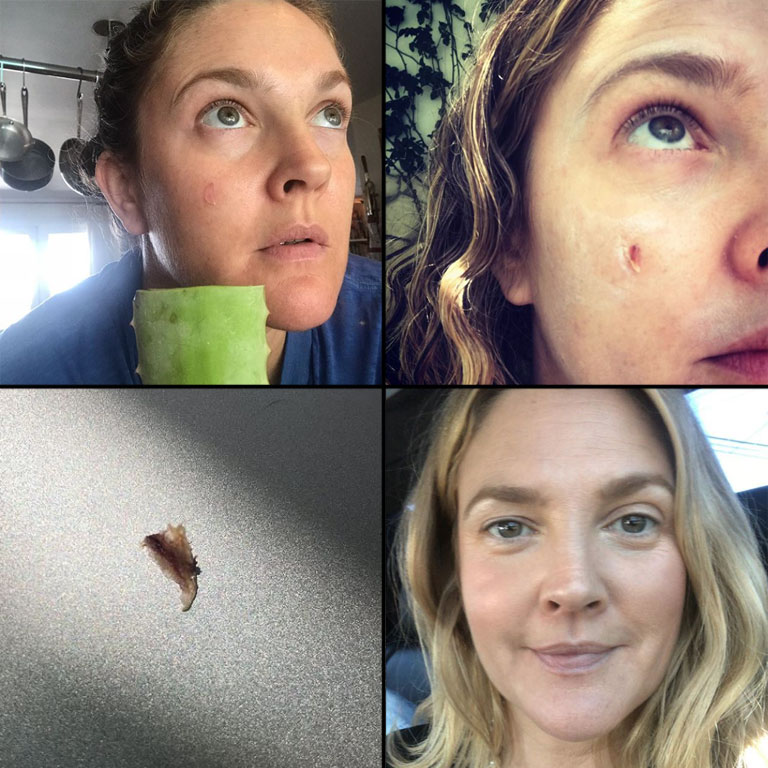 Oh I Heart This So Much Esp How Everything Centres: Drew Barrymore's Epic Beauty Junkie Instagram Series Is