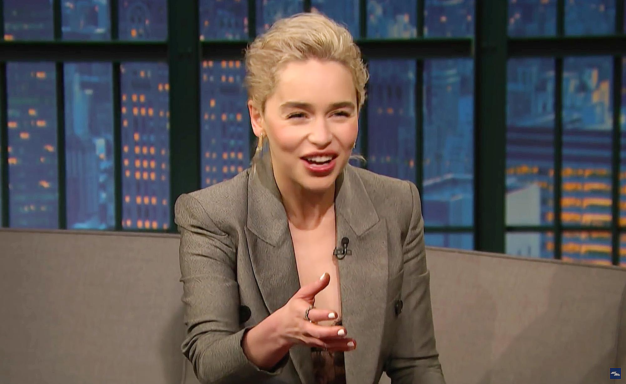 Emilia Clarke Late Night with Seth Meyers Prince William