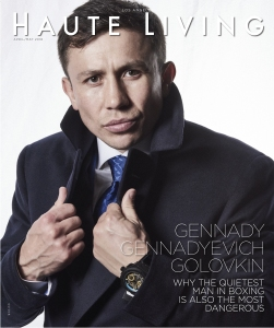 Gennady Gennadyevich Golovkin on the cover of Haute Living