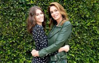 Kaia Gerber (L) and Cindy Crawford