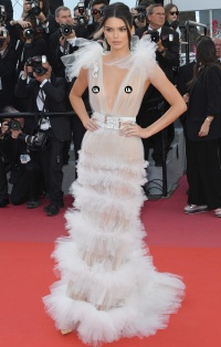 a5322e7e6f Kendall Jenner Bares Nipples in Two See-Through Dresses at Cannes Film  Festival   Oops