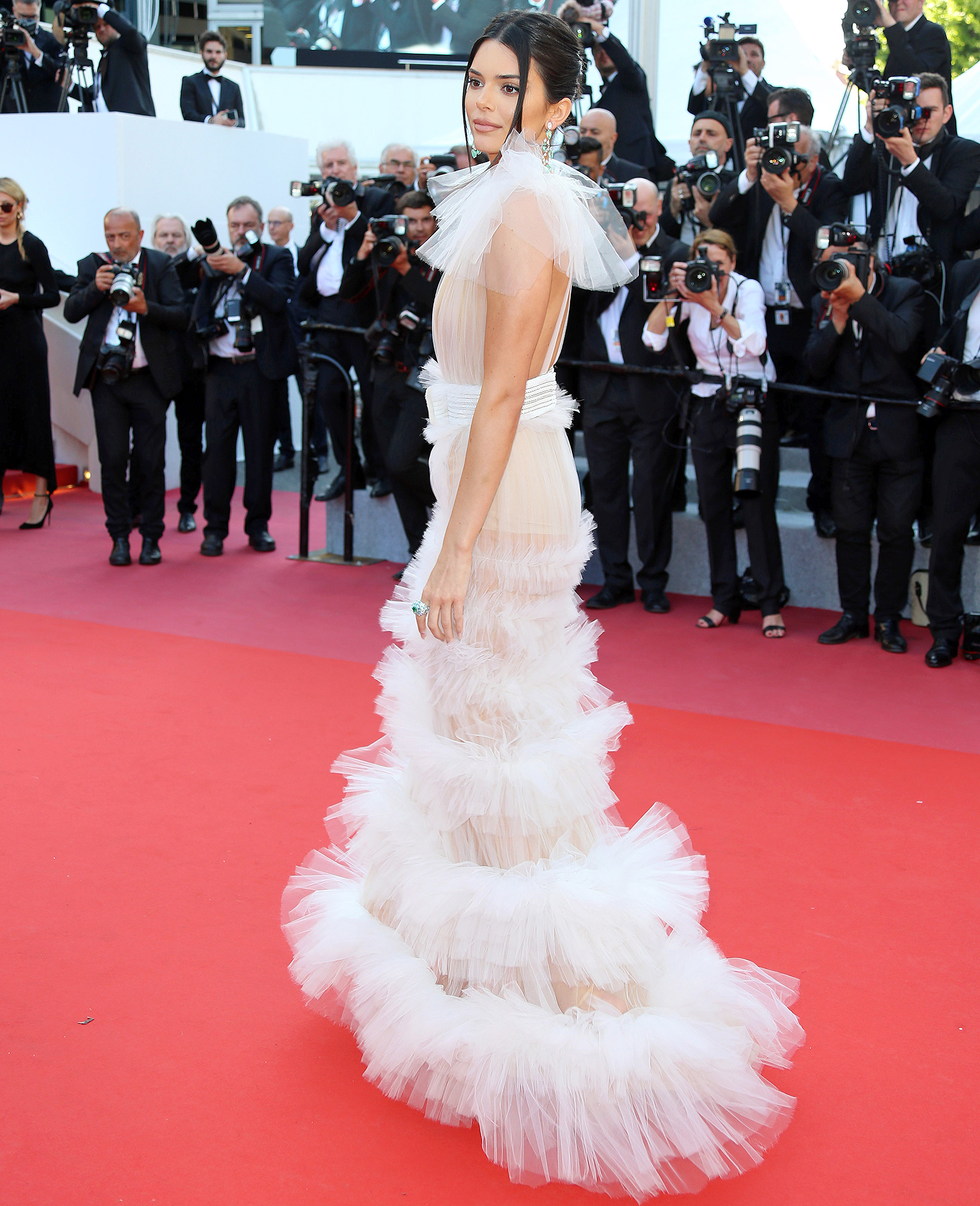 ee0364e8b0 Kendall Jenner Bares Nipples in See-Through Dresses at Cannes  Pics