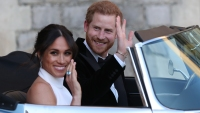 Prince Harrry, Duke of Sussex and Meghan, Duchess of Sussex depart Windsor Castle