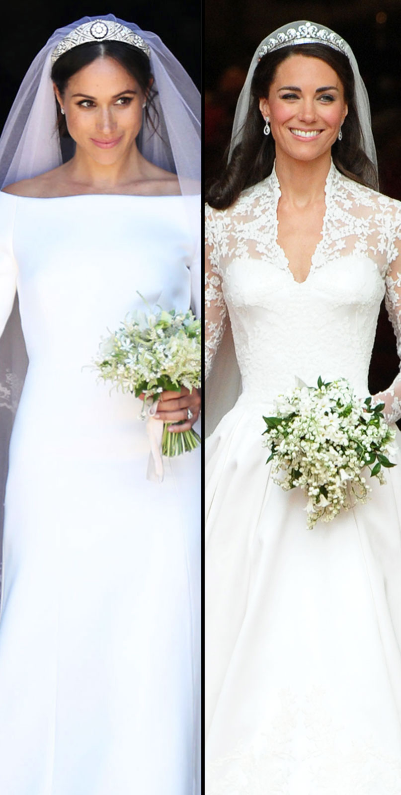 Kate Middleton And Meghan Markles Wedding Dresses Who Had The Best