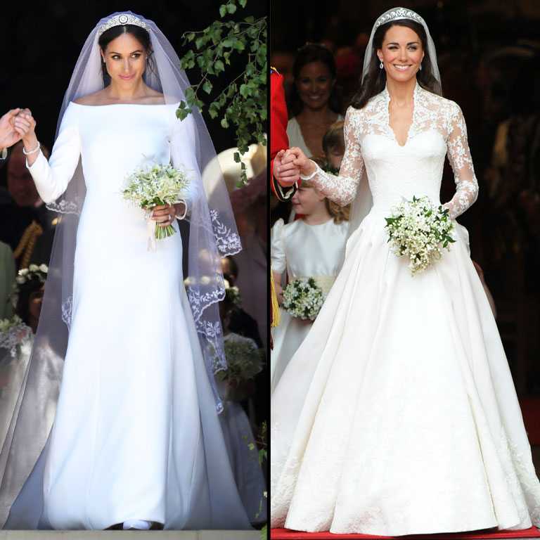 Markle vs middleton who had the best wedding dress on zig for Kate middleton wedding dress where to buy