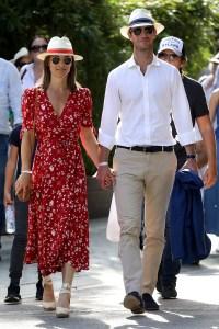 Pippa Middleton red floral dress