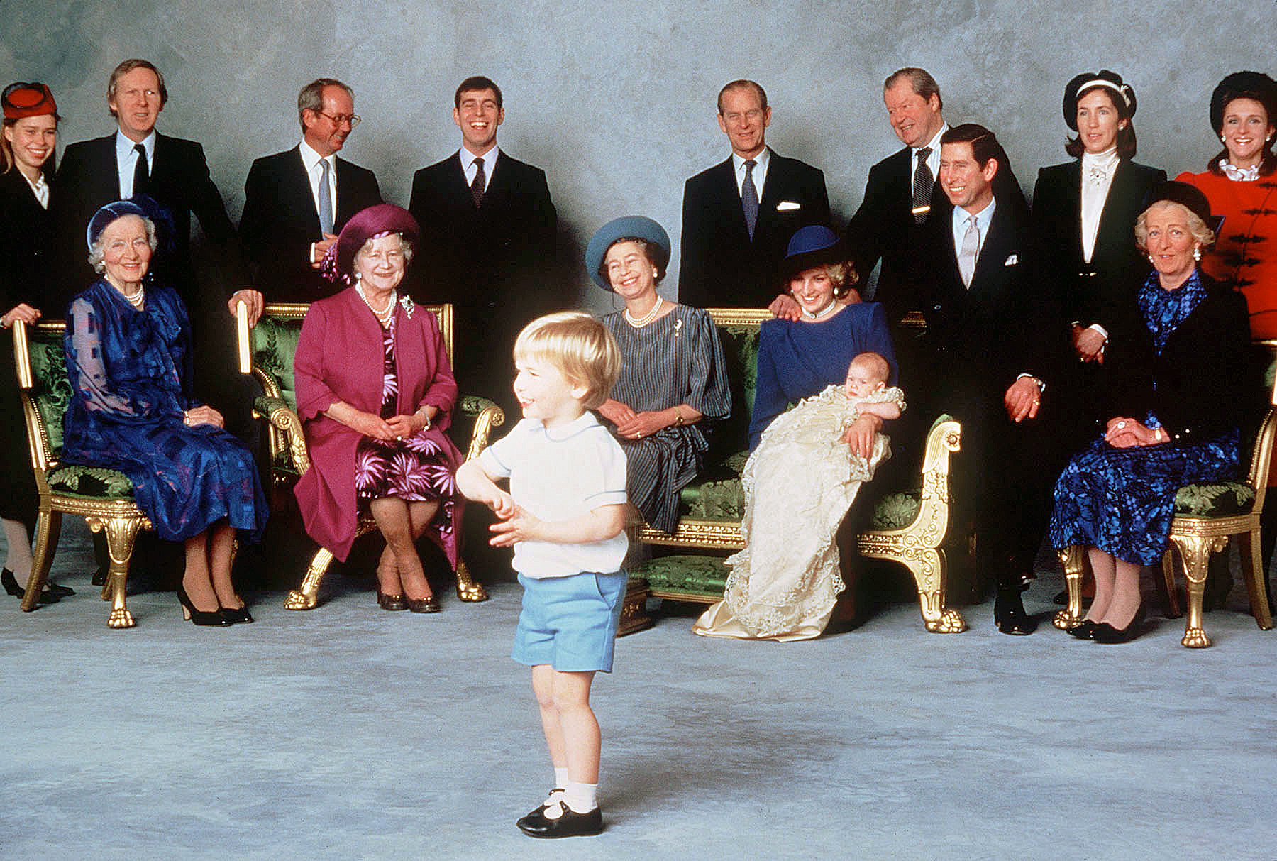 Prince Harry Christening Princess Diana Emerald Couch
