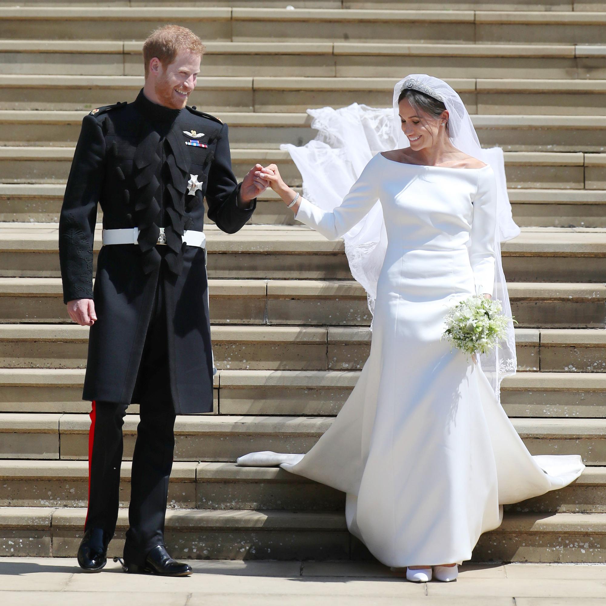 Meghan Markle Wedding Dress Designer Prince Harry Was In Awe Of