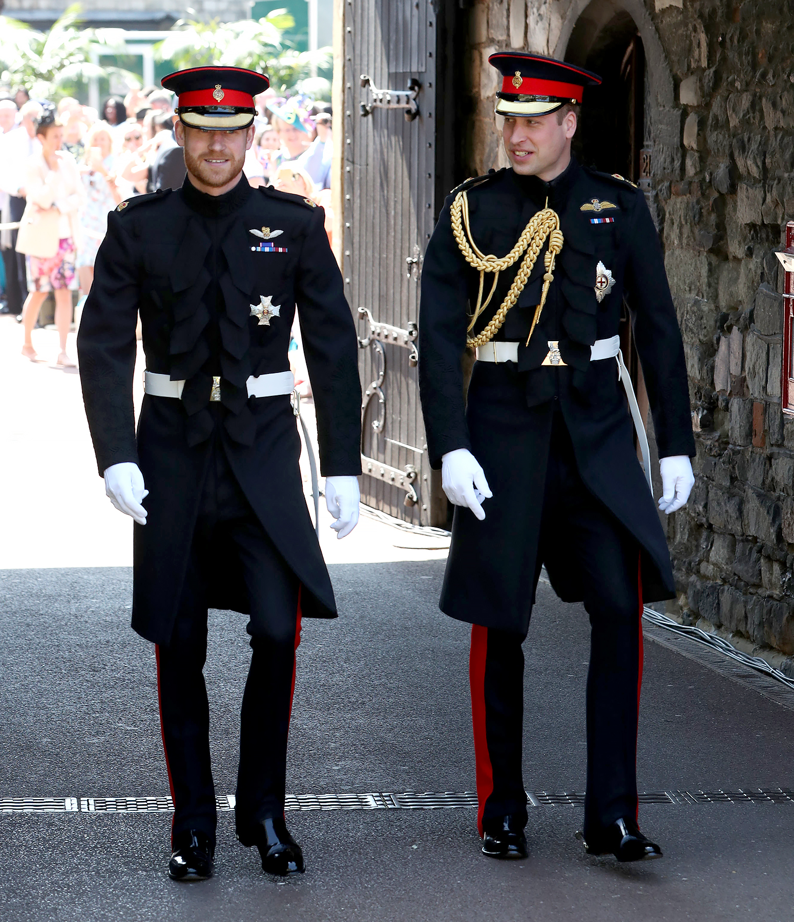 what did prince william say to prince harry on walk to royal wedding prince harry on walk to royal wedding