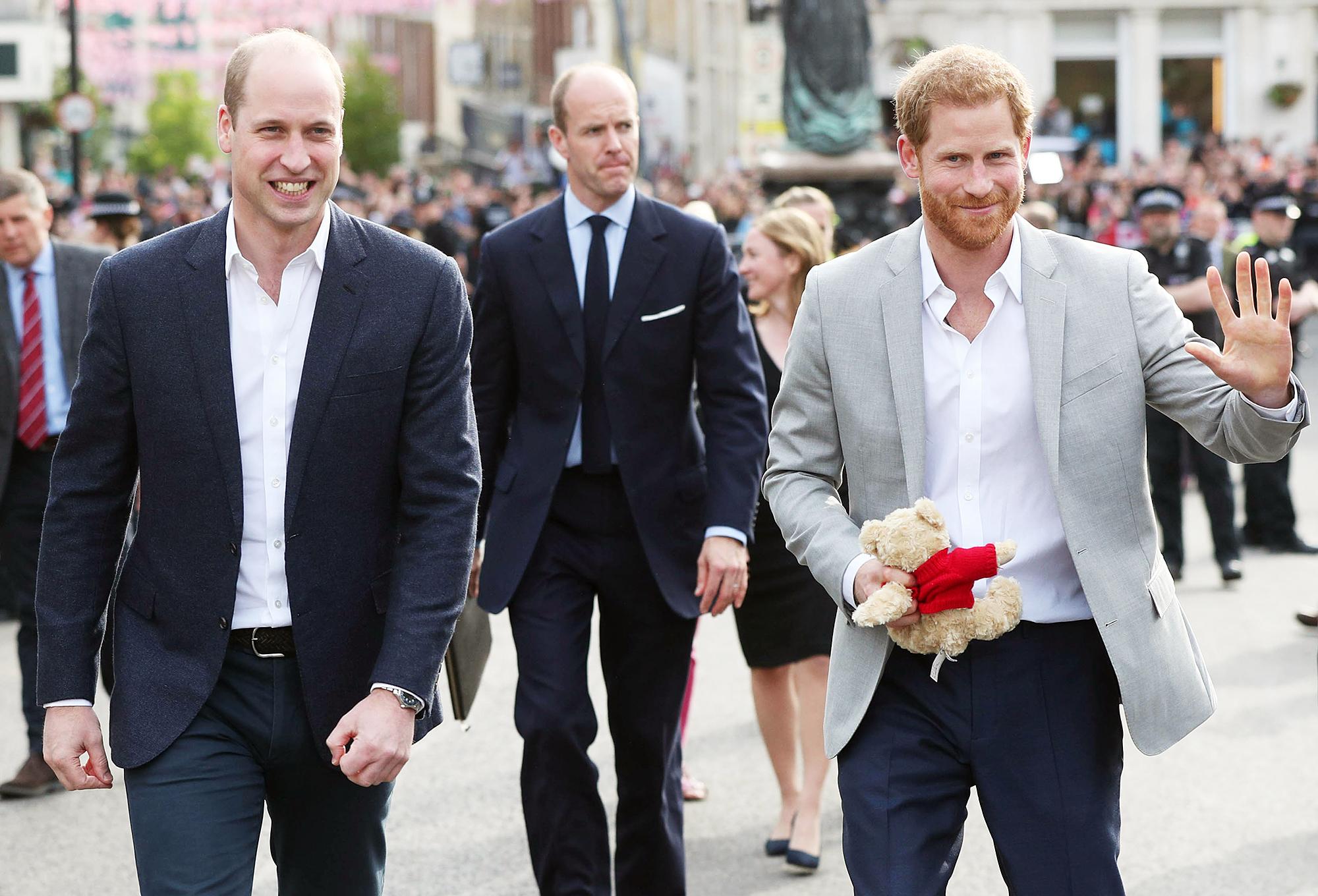 Prince Harry Prince William Windsor Castle