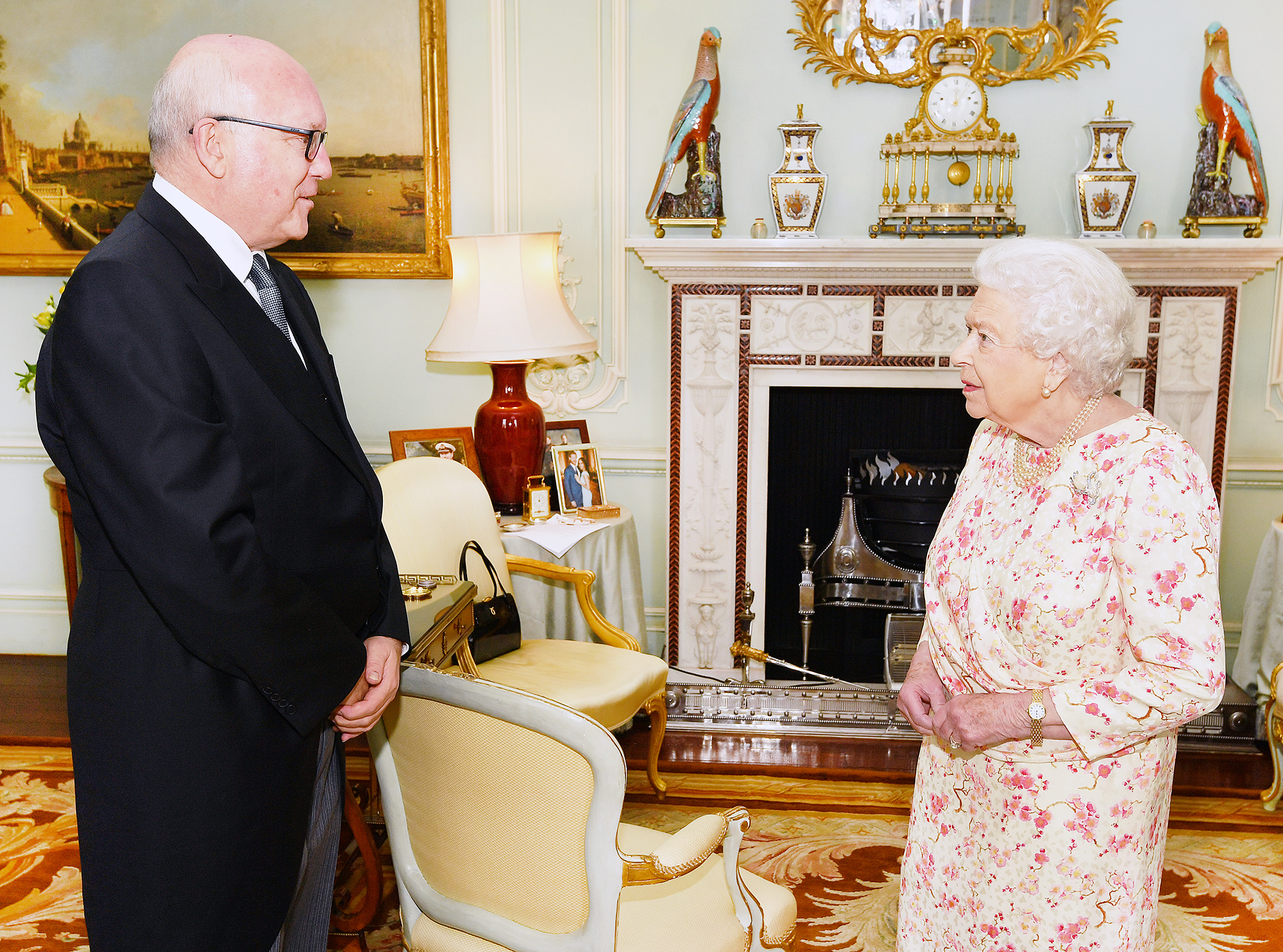 Queen Elizabeth Prince Harry Duchess Meghan photo