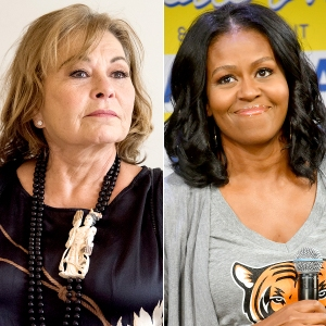 Roseanne Barr and Michelle Obama