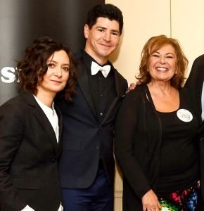 Sara Gilbert, Michael Fishman, and Roseanne Barr