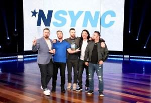 NSYNC bandmates Lance Bass, Joey Fatone, JC Chasez, Chris Kirkpatrick and Justin Timberlake on 'The Ellen DeGeneres Show'