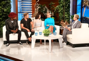 Ne-Yo, Derek Hough, Jenna Dewan and Jennifer Lopez on 'The Ellen DeGeneres Show'