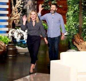 Amy Poehler and Nick Offerman on 'The Ellen DeGeneres Show'