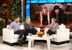 Nick Offerman and Amy Poehler on 'The Ellen DeGeneres Show'
