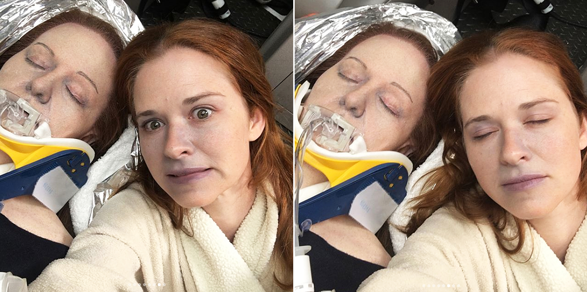"Sarah Drew Grey's Anatomy - Drew shared some ""creepy"" shots with … her own body double!"