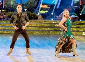 Sasha Farber and Tonya Harding