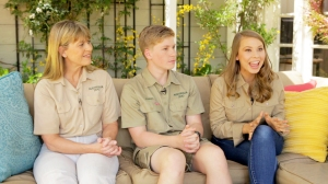 Terri, Robert and Bindi Irwin
