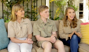 Terri Irwin, Robert Irwin, and Bindi Irwin
