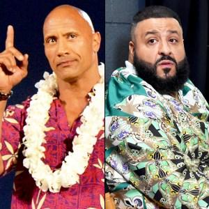 Dwayne 'The Rock' Johnson and DJ Khaled