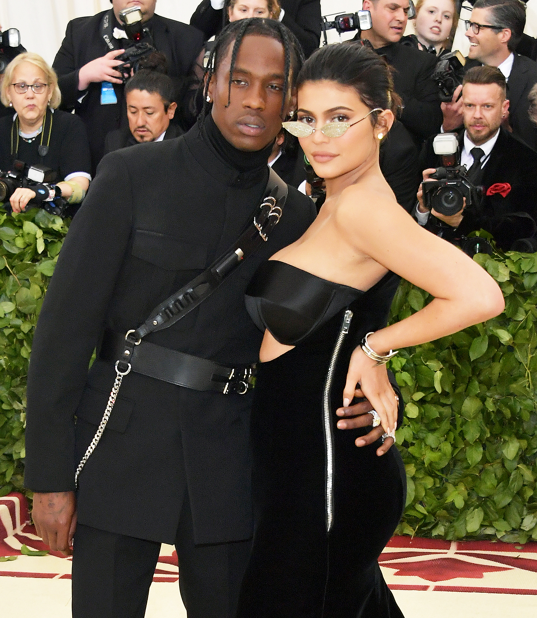 2aa581f8fff63 Kylie Jenner and Travis Scott Make Red Carpet Debut at Met Gala 2018