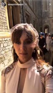 Troian Bellisario at the royal wedding.