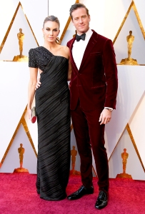 Elizabeth Chambers and Armie Hammer attend the 90th Annual Academy Awards at Hollywood & Highland Center on March 4, 2018 in Hollywood, California.