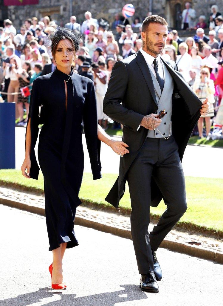 Victoria Beckham and David Beckham RW