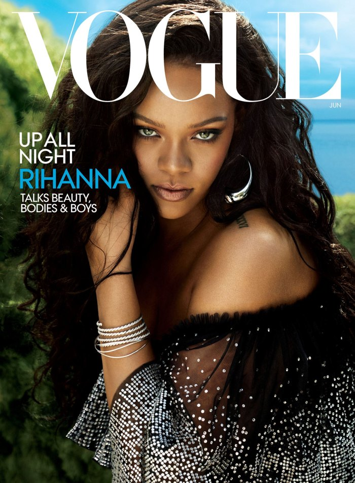 Rihanna on the June 2018 cover of 'Vogue'