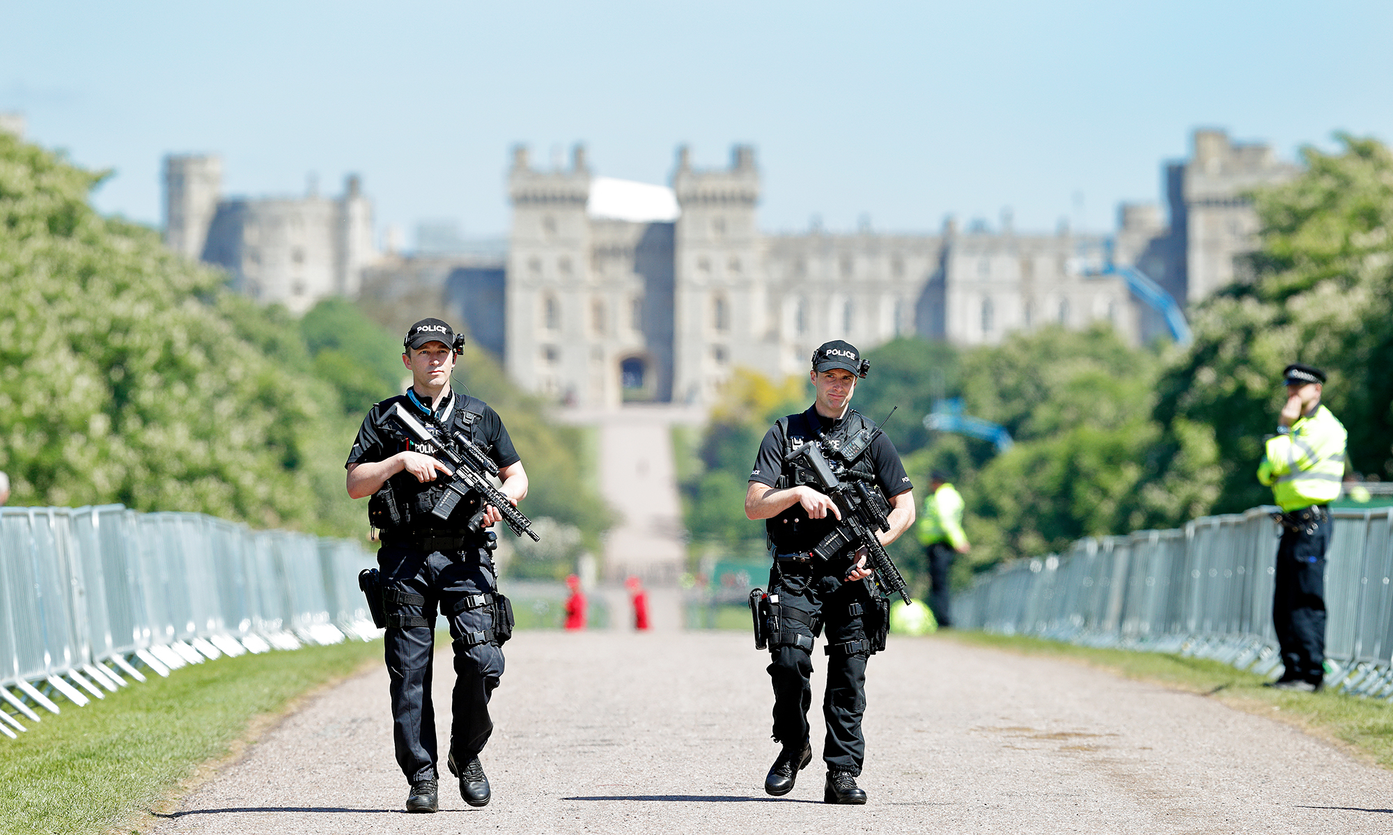 Police Patrol Royal Wedding Windsor Castle