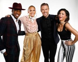 Ne-Yo, Jennifer Lopez, Derek Hough, Jenna Dewan
