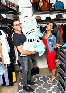 Cheryl Burke and Matthew Lawrence and thredUP closet cleanout in Cheryl's wardrobe room and closets.