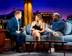 Hilary Duff and Sam Richardson on 'The Late Late Show with James Corden'