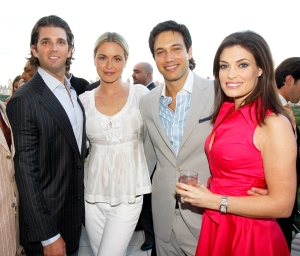 Donald Trump Jr., Vanessa Trump, Eric Villency and Kimberly Guilfoyle attend the 2008 Inocente Tequila Tasting in New York City.