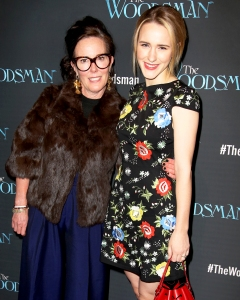 Kate Spade and Rachel Brosnahan attend the Off-Broadway Opening Night 2016 Performance of 'The Woodsman' at The New World Stages in New York City.